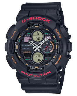 BLACK RED MENS ACCESSORIES G SHOCK WATCHES - GA140-1A4BLKR