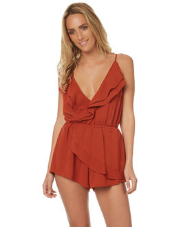 RUST WOMENS CLOTHING REVERSE PLAYSUITS + OVERALLS - 425RUST