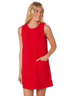 RED WOMENS CLOTHING HUFFER DRESSES - WDR84S6305-188