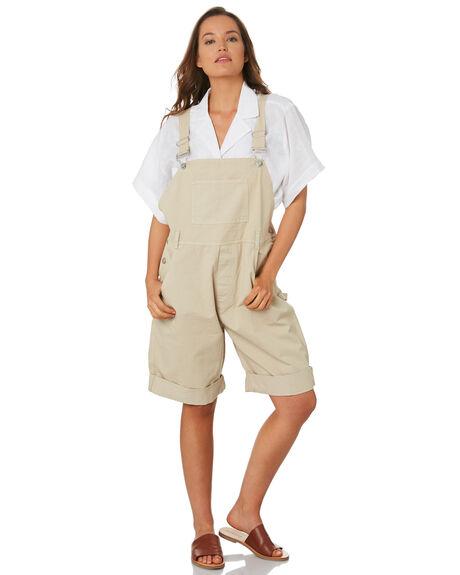 KHAKI WOMENS CLOTHING ZULU AND ZEPHYR PLAYSUITS + OVERALLS - ZZ2824KHAK