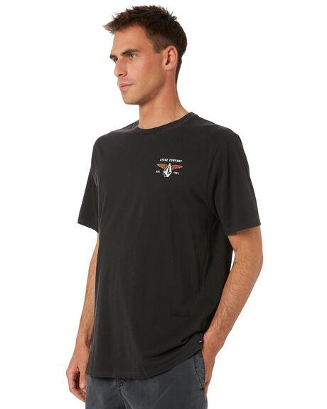 BLACK MENS CLOTHING VOLCOM TEES - A4332070BLK