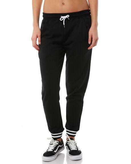 BLACK WOMENS CLOTHING VOLCOM PANTS - B1111876BLK