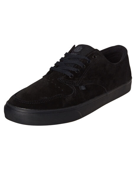 BLACK BLACK MENS FOOTWEAR ELEMENT SNEAKERS - 183902BKBK