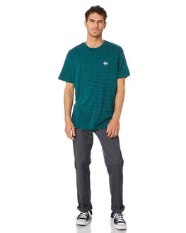 DARKEST TEAL MENS CLOTHING STUSSY TEES - ST007107DRKTL