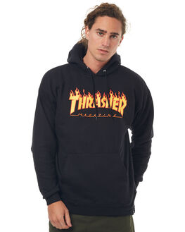 BLACK MENS CLOTHING THRASHER JUMPERS - 20365073BLK