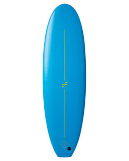 BLUE FLURO YELLOW BOARDSPORTS SURF FOAMIE SOFTBOARDS - F6BLUEBLUFY
