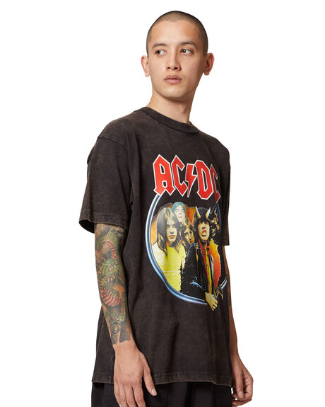 BLACK MENS CLOTHING DC SHOES TEES - ADYZT04980-KVJ0