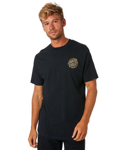 BLACK MENS CLOTHING SANTA CRUZ TEES - SC-MTA9098BLK