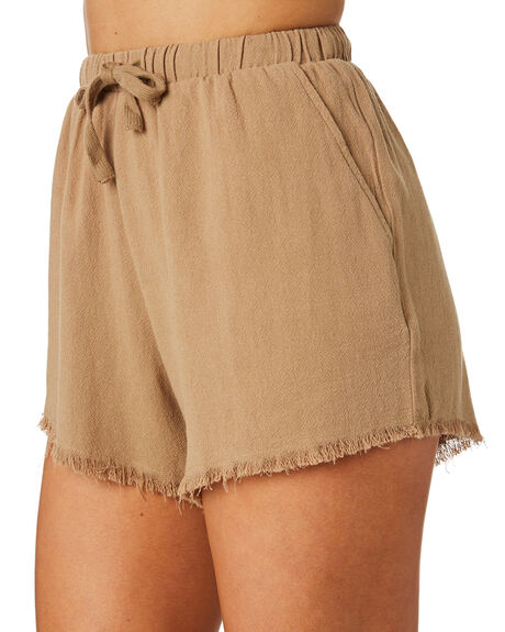 WASHED BROWN WOMENS CLOTHING SWELL SHORTS - S8171233WBRN