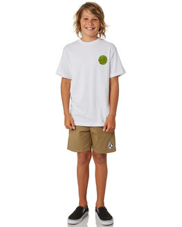 WHITE KIDS BOYS SANTA CRUZ TOPS - SC-YTA9168WHT