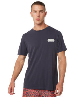 NEW NAVY MENS CLOTHING RVCA TEES - R182094BNWNVY