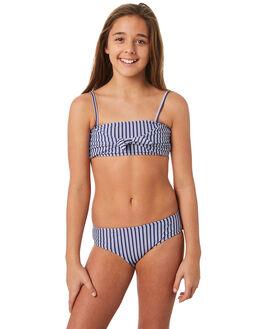 INDIGO STRIPE KIDS GIRLS SEAFOLLY SWIMWEAR - 27048INDST