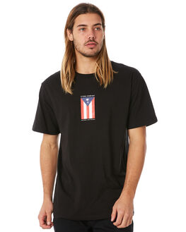 BLACK MENS CLOTHING THRILLS TEES - TW8-110BBLK