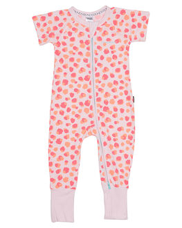 SPOT LEOPARD PINK KIDS BABY BONDS CLOTHING - BYEKA99Y