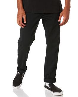 BLACK MENS CLOTHING HUFFER PANTS - MPA91P5101BLK