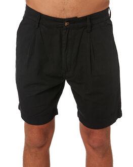 BLACK MENS CLOTHING MISFIT SHORTS - MT092601BLK
