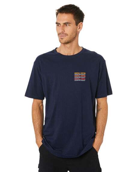 NAVY MENS CLOTHING RPM TEES - 20WM04A2NVY