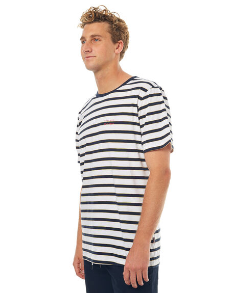 NAVY WHITE MENS CLOTHING RPM TEES - 7SMT01BNVYW
