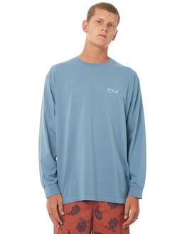CAPTAINS BLUE MENS CLOTHING POLAR SKATE CO. TEES - SCRIPTLSTCBLU