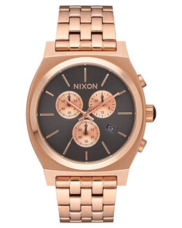 ROSE GOLD GUNMETAL MENS ACCESSORIES NIXON WATCHES - A972-2046