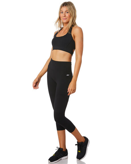 BLACK WOMENS CLOTHING LORNA JANE ACTIVEWEAR - LB0210BLK