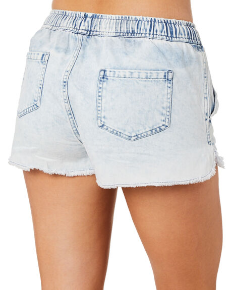 BLUE DENIM WOMENS CLOTHING SWELL SHORTS - S8211237BLDEN