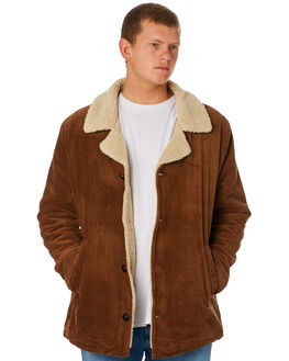 TAN CORD MENS CLOTHING ROLLAS JACKETS - 155951868