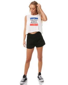 NATURAL WOMENS CLOTHING THRILLS SINGLETS - WTA8-120ANAT
