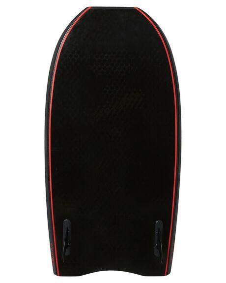 BLACK RED BOARDSPORTS SURF DRAG BODYBOARDS - DBCSPEEDBLKRD
