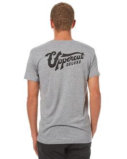 GREY BLACK MENS CLOTHING UPPERCUT TEES - UPDTS0264GRYBK