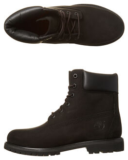 BLACK WOMENS FOOTWEAR TIMBERLAND BOOTS - 8658A001