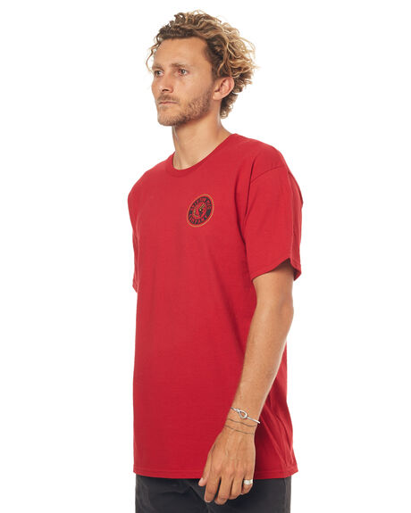 RED MENS CLOTHING BRIXTON TEES - 06519RED