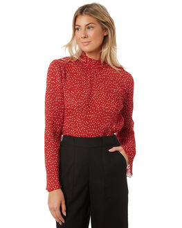 RED WHITE WOMENS CLOTHING THE FIFTH LABEL FASHION TOPS - 40190473-4RED