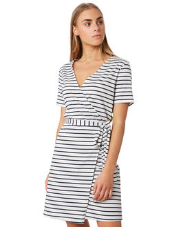 NAVY STRIPE WOMENS CLOTHING ELWOOD DRESSES - W93729JF6