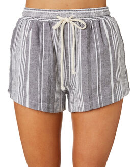BLACK STRIPE WOMENS CLOTHING THE HIDDEN WAY SHORTS - H8171232BLKST