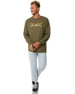 MILITARY GREEN MENS CLOTHING ANTI HERO TEES - 52020001BMGRN