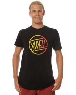 BLACK MENS CLOTHING SWELL TEES - S5174013BLK