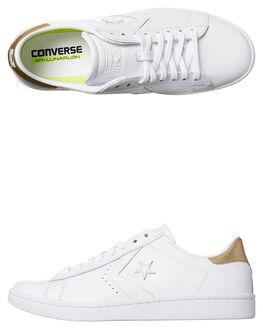 WHITE LIGHT GOLD WOMENS FOOTWEAR CONVERSE SNEAKERS - 555934WHTG