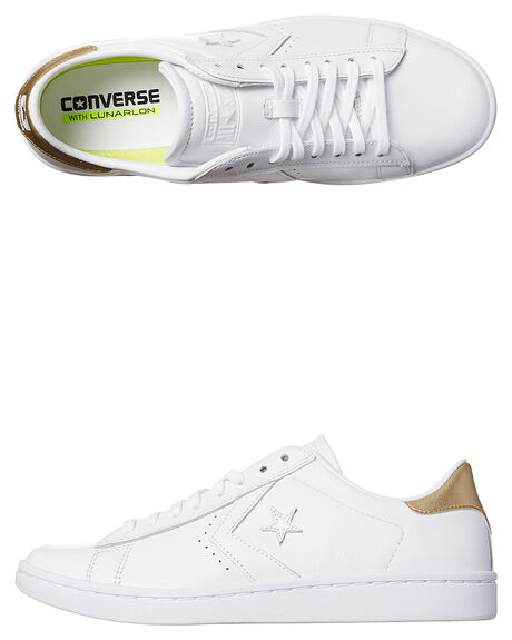 WHITE LIGHT GOLD WOMENS FOOTWEAR CONVERSE SNEAKERS - 555934WHTG