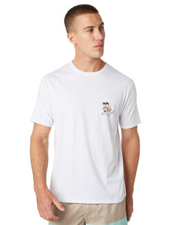 WHITE MENS CLOTHING BARNEY COOLS TEES - 128-CC2-WHT