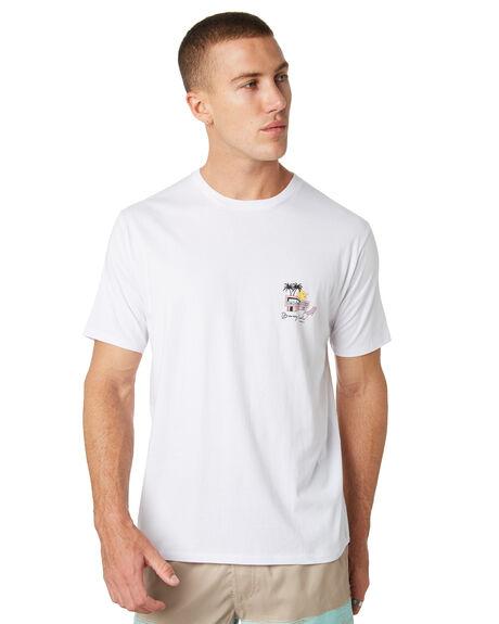 WHITE MENS CLOTHING BARNEY COOLS TEES - 128-CC2-WHT