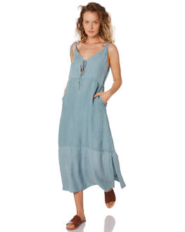 SKY BLUE WOMENS CLOTHING SANCIA DRESSES - 843ASKY