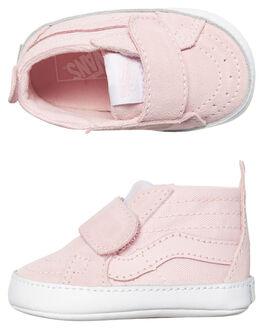CHALK PINK WHITE KIDS BABY VANS FOOTWEAR - VNA346PQ1CPNKWH