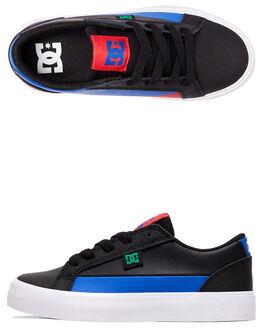 BLACK/BLUE/RED KIDS BOYS DC SHOES SNEAKERS - ADBS300337-XKBR