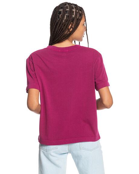 RASPBERRY RADIANCE WOMENS CLOTHING QUIKSILVER TEES - EQWZT03025-MQY0