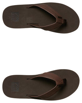 BROWN MENS FOOTWEAR REEF THONGS - A2YFQBRO