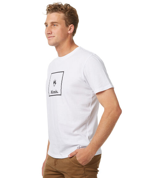 WHITE MENS CLOTHING AFENDS TEES - 01-01-316WHT