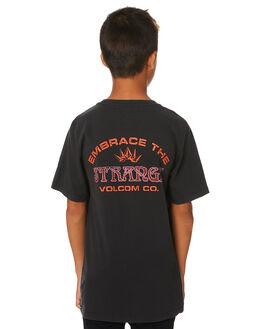BLACK KIDS BOYS VOLCOM TOPS - C4331973BLK