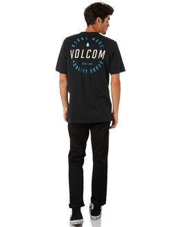 BLACK COMBO MENS CLOTHING VOLCOM TEES - A504187GBLC