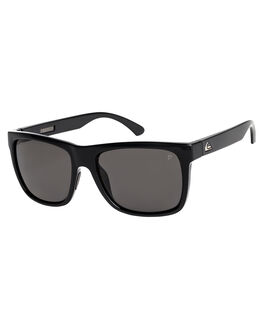BLACK/POLARIZED GREY MENS ACCESSORIES QUIKSILVER SUNGLASSES - EQYEY03112-XKSS
